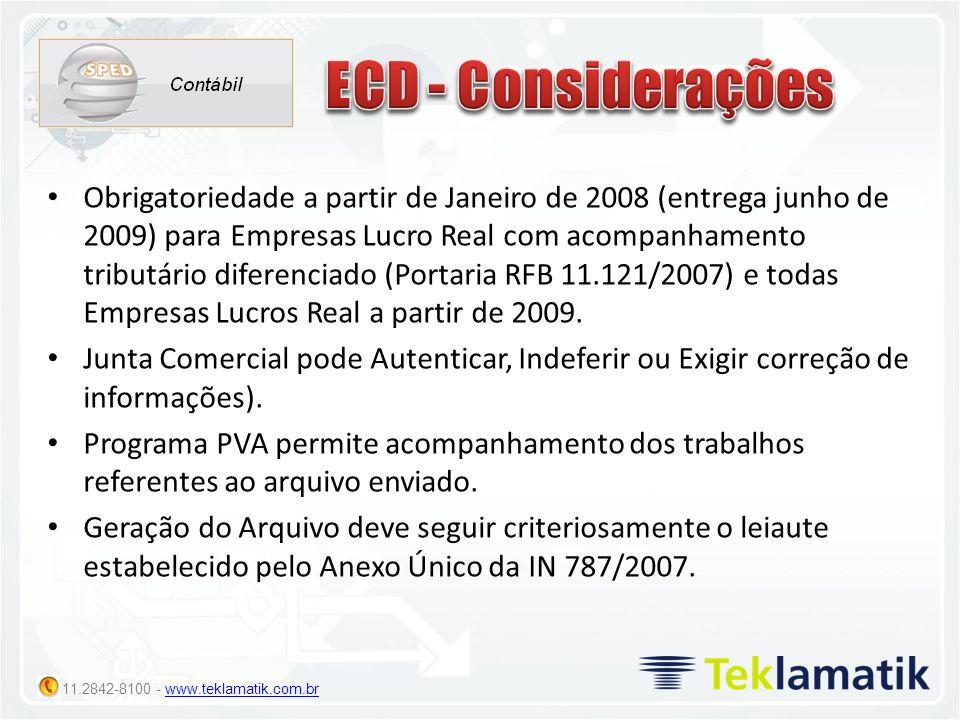 ECD - Considerações