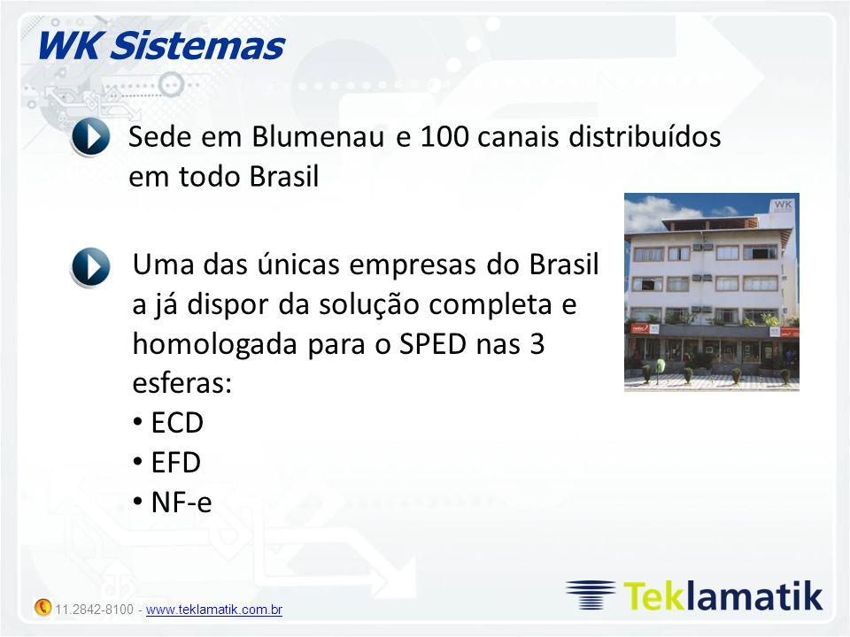 WK Sistemas Sede em Blumenau e 100 canais distribuídos em todo Brasil