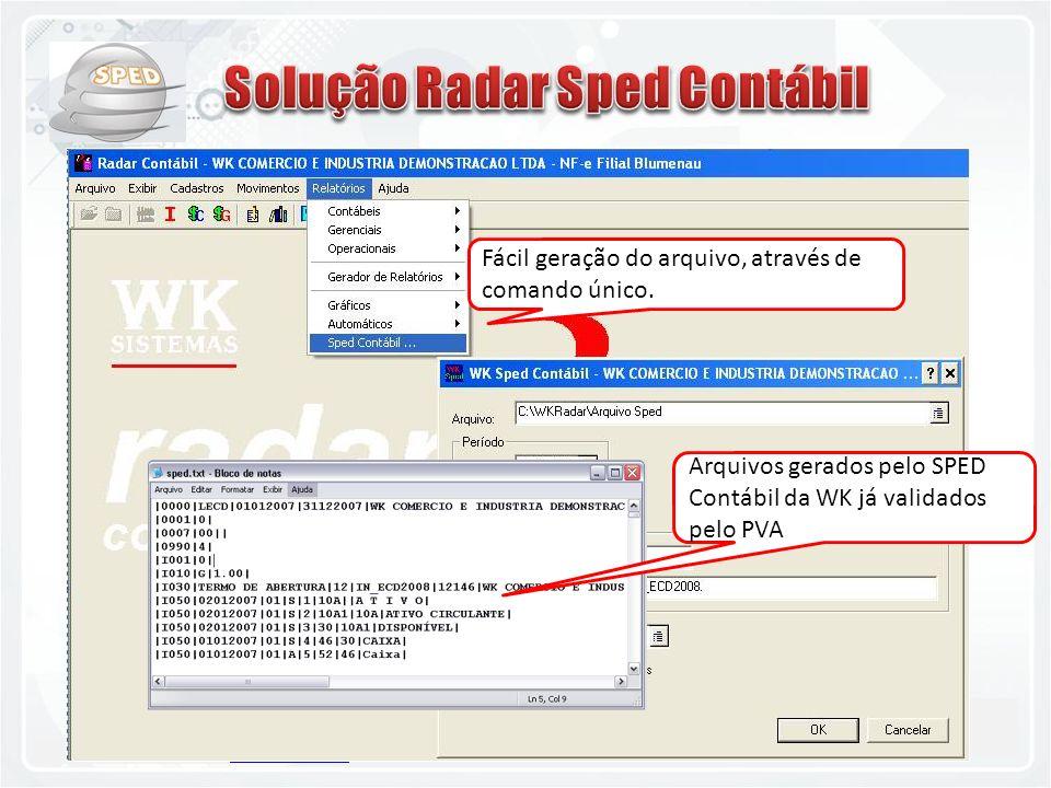 Solução Radar Sped Contábil