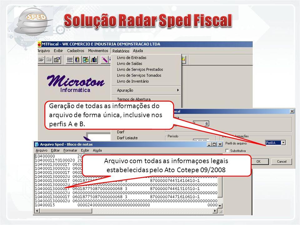 Solução Radar Sped Fiscal