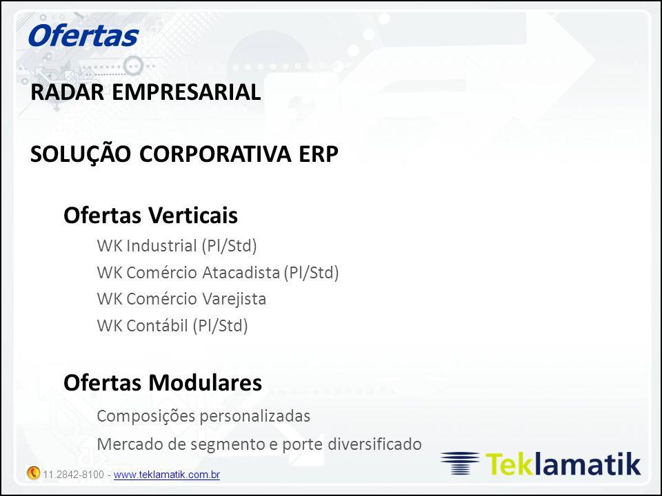 Ofertas RADAR EMPRESARIAL SOLUÇÃO CORPORATIVA ERP Ofertas Verticais