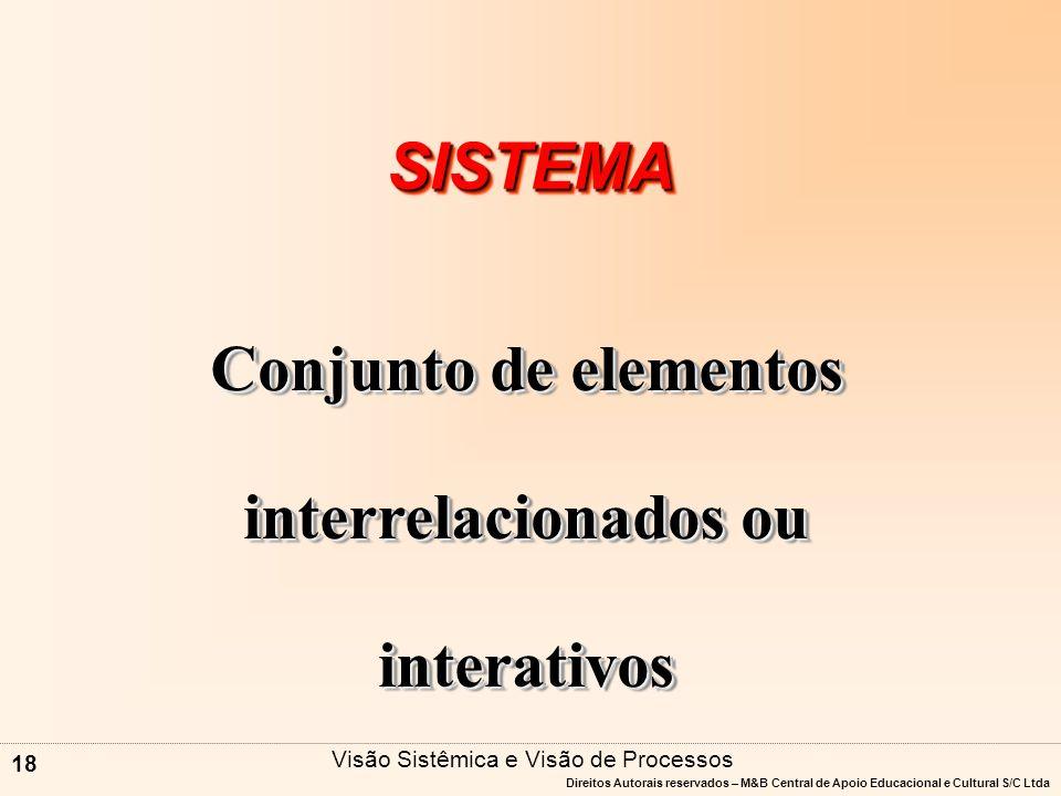 Conjunto de elementos interrelacionados ou interativos