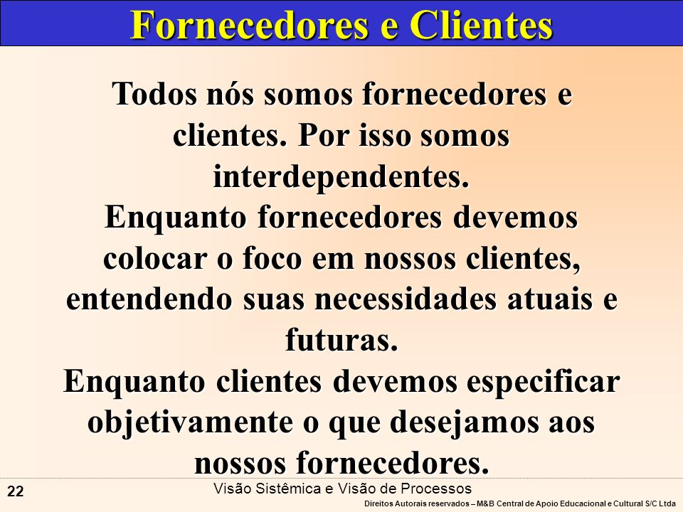 Fornecedores e Clientes