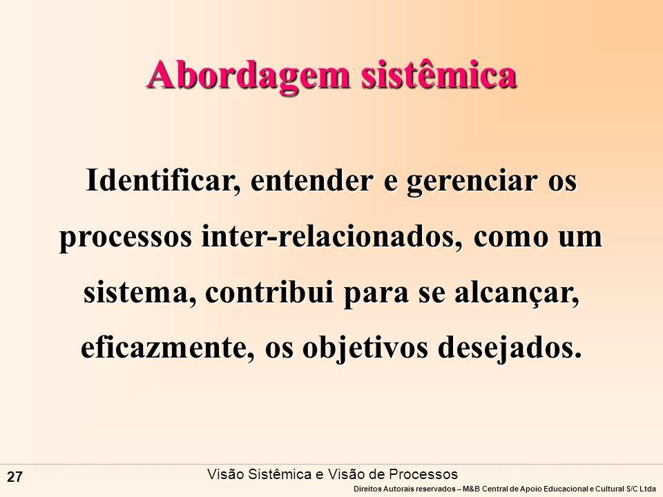 Visão Sistêmica e Visão de Processos