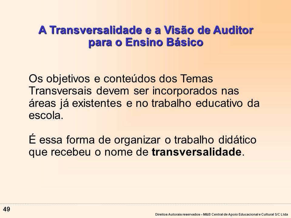 A Transversalidade e a Visão de Auditor para o Ensino Básico