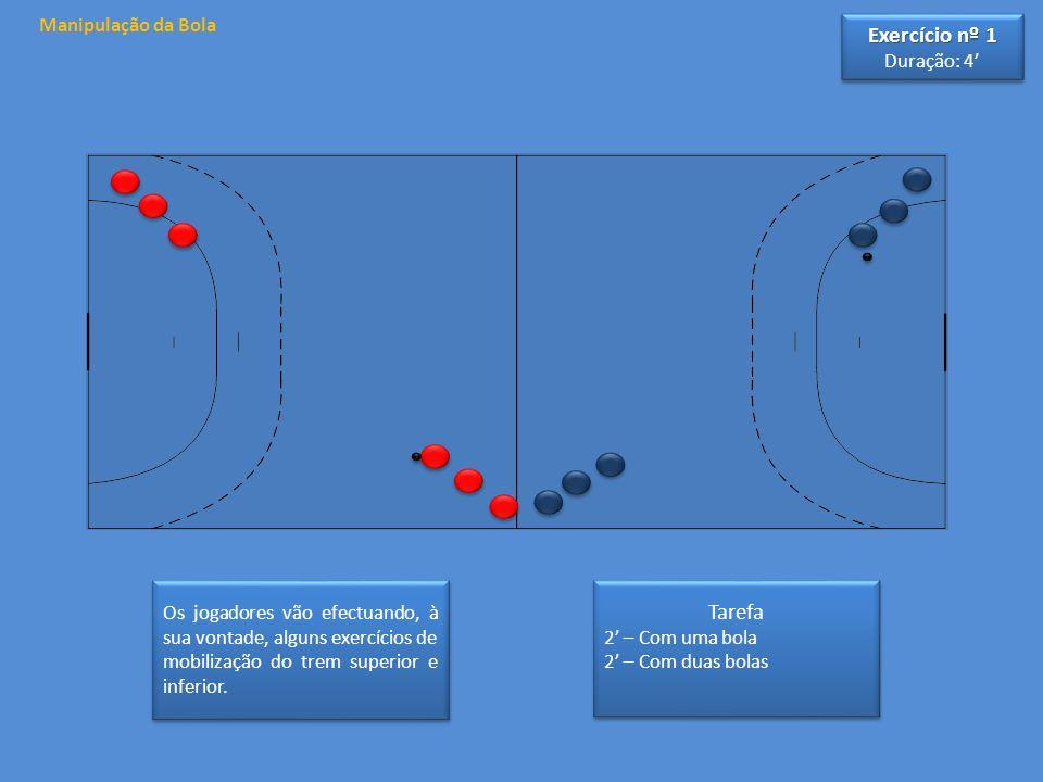 Exercício nº 1 Tarefa Manipulação da Bola Duração: 4'