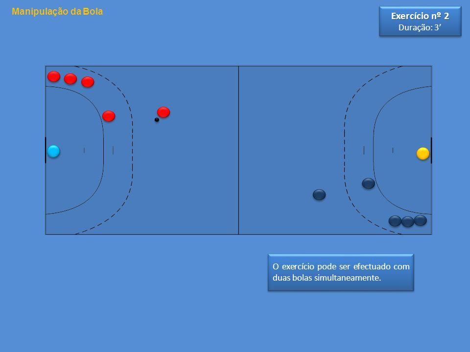 Exercício nº 2 Manipulação da Bola Duração: 3'