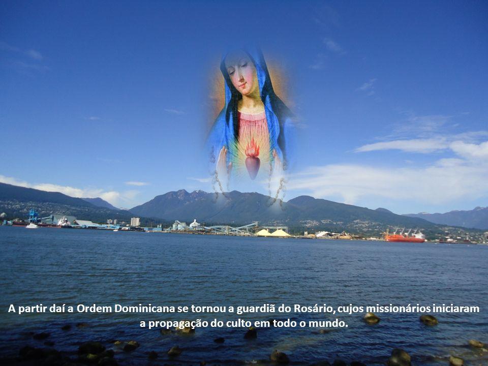 A partir daí a Ordem Dominicana se tornou a guardiã do Rosário, cujos missionários iniciaram a propagação do culto em todo o mundo.