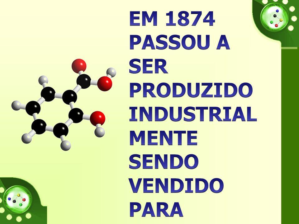 Em 1874 passou a ser produzido industrialmente sendo vendido para tratar as dores, contudo causava problemas de estômago.