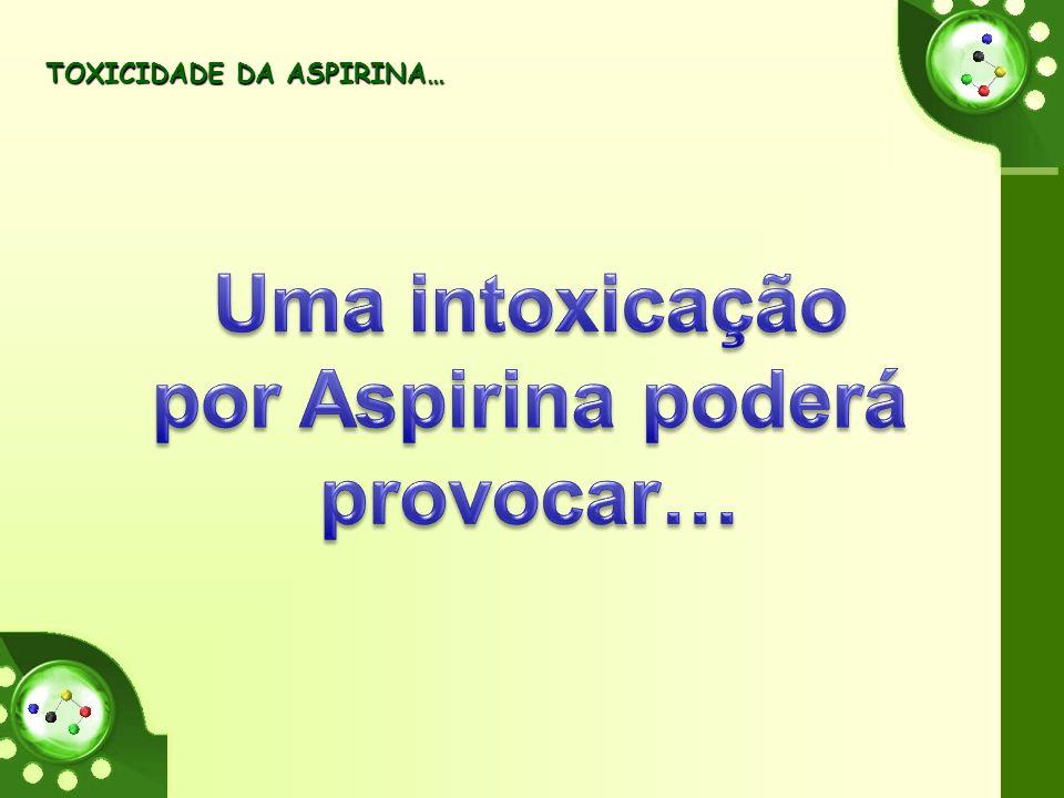 Uma intoxicação por Aspirina poderá provocar…
