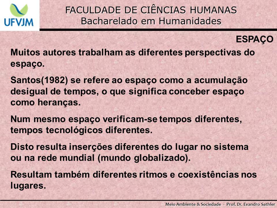 FACULDADE DE CIÊNCIAS HUMANAS Bacharelado em Humanidades