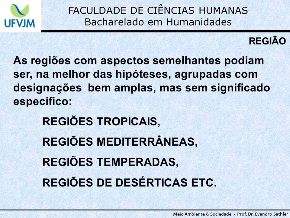 REGIÕES MEDITERRÂNEAS, REGIÕES TEMPERADAS, REGIÕES DE DESÉRTICAS ETC.