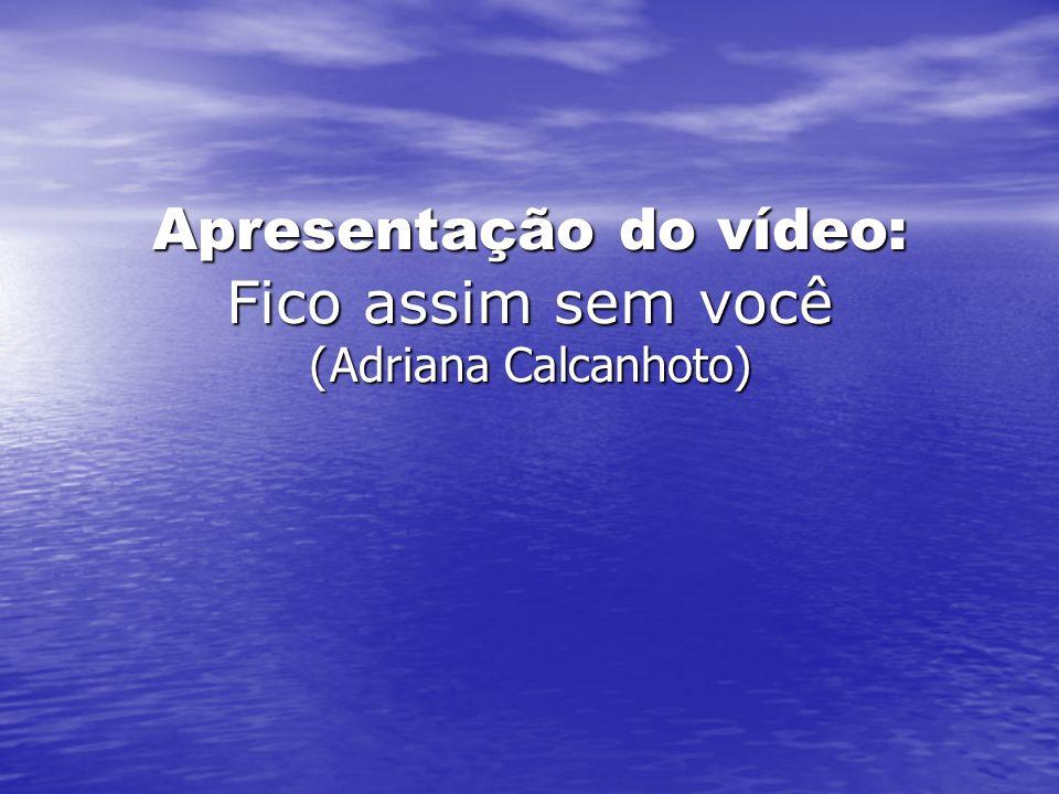 Apresentação do vídeo: Fico assim sem você (Adriana Calcanhoto)