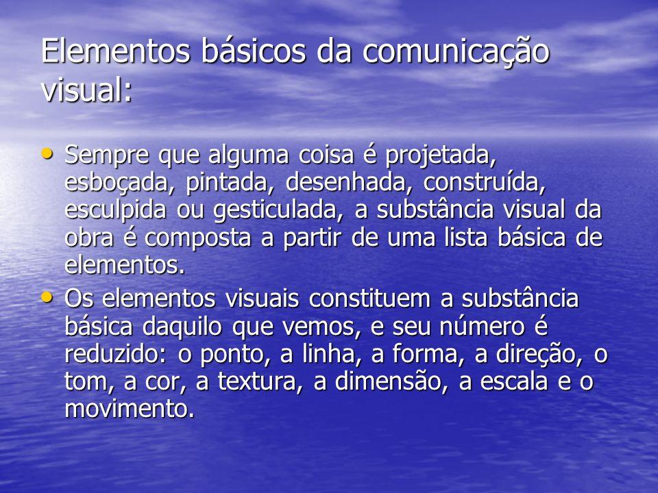 Elementos básicos da comunicação visual:
