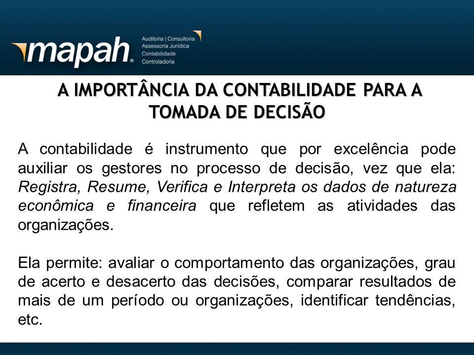 A IMPORTÂNCIA DA CONTABILIDADE PARA A TOMADA DE DECISÃO