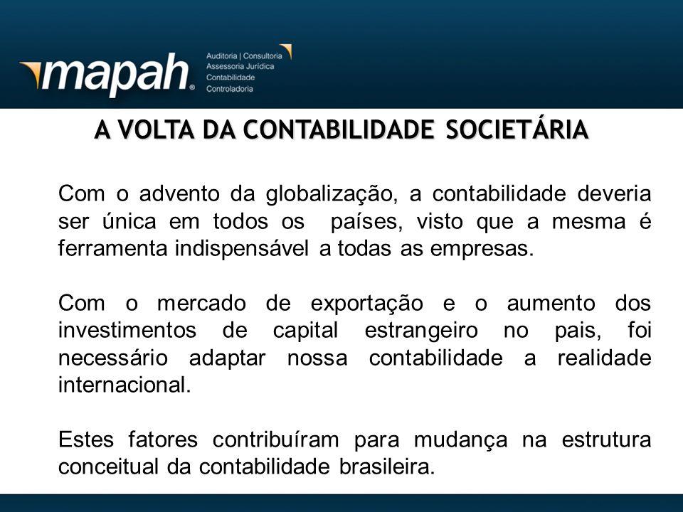 A VOLTA DA CONTABILIDADE SOCIETÁRIA