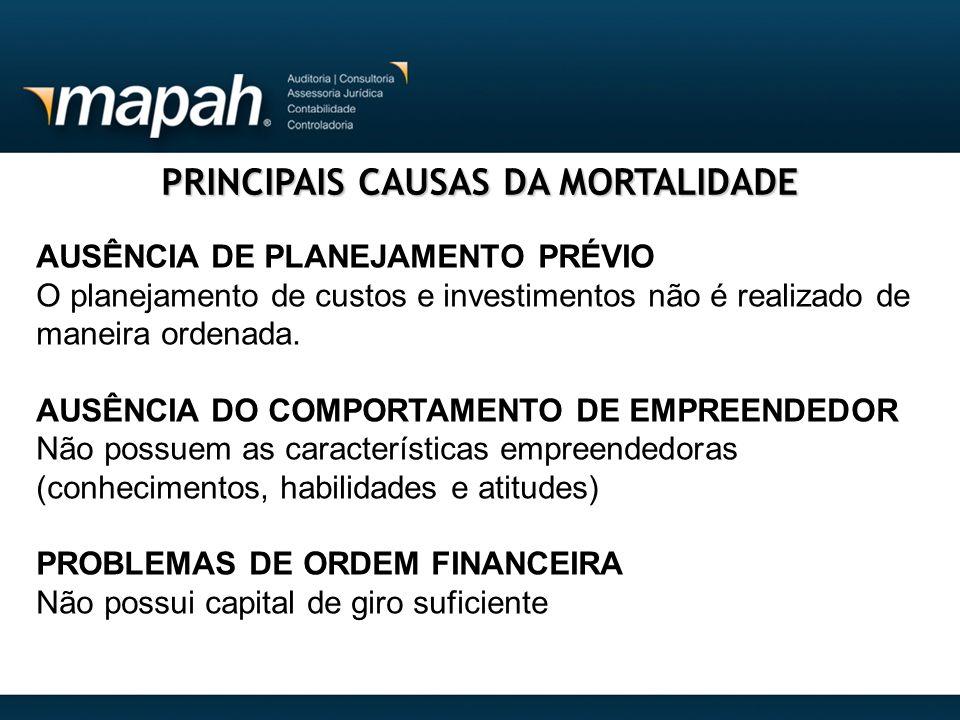 PRINCIPAIS CAUSAS DA MORTALIDADE