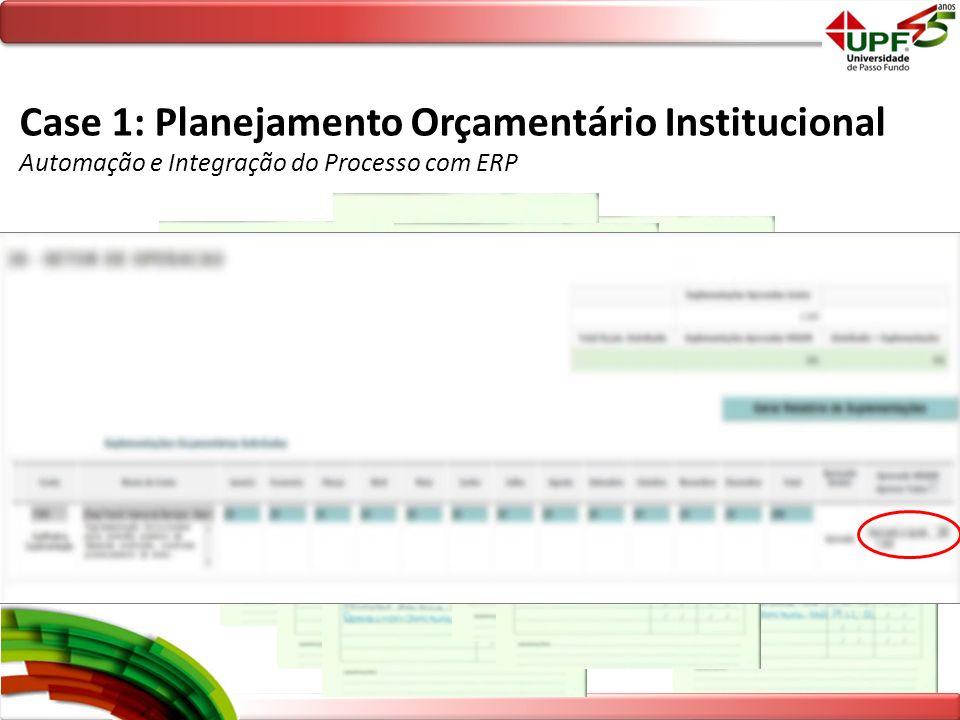 Case 1: Planejamento Orçamentário Institucional Automação e Integração do Processo com ERP