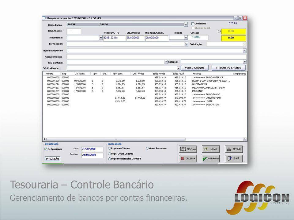 Tesouraria – Controle Bancário