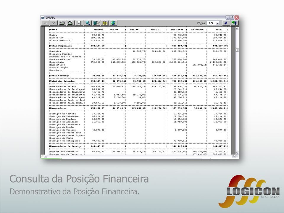 Consulta da Posição Financeira