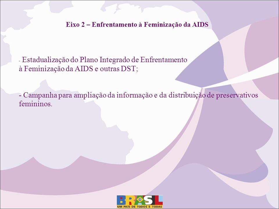 Eixo 2 – Enfrentamento à Feminização da AIDS