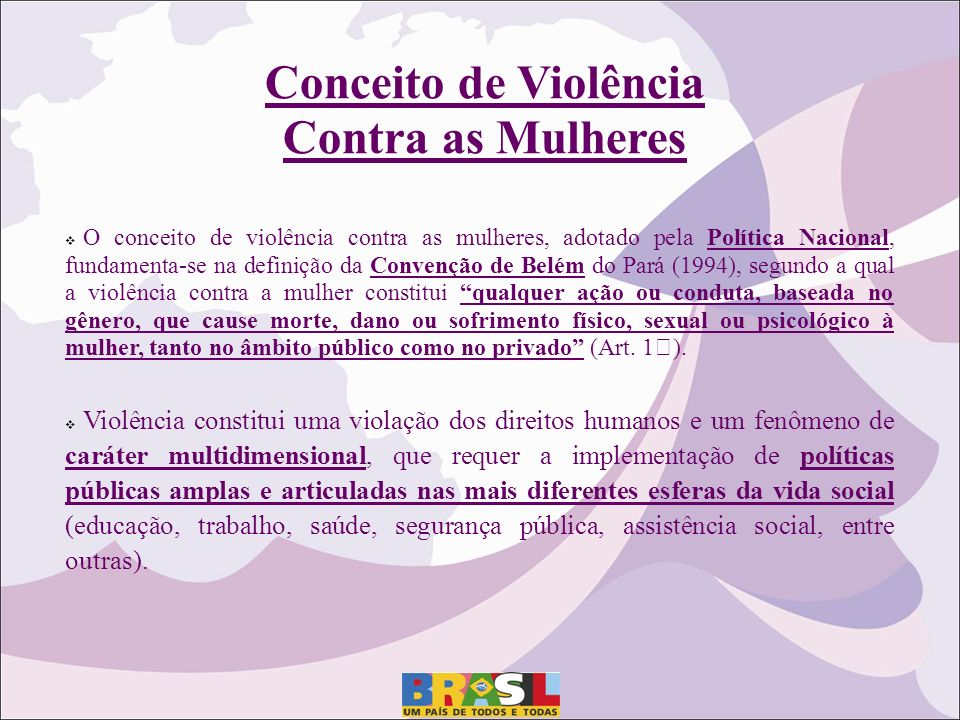 Conceito de Violência Contra as Mulheres