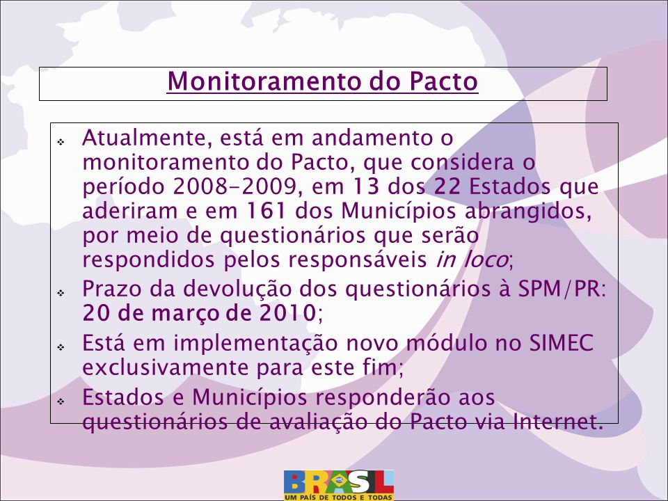 Monitoramento do Pacto