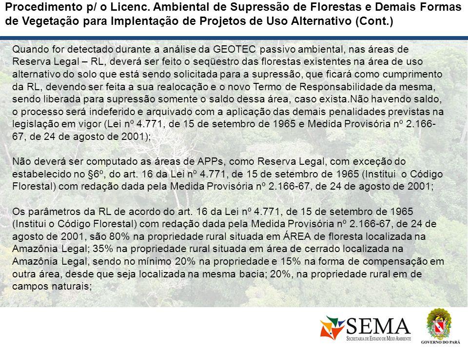 Procedimento p/ o Licenc