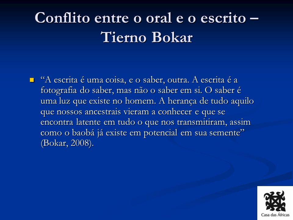 Conflito entre o oral e o escrito – Tierno Bokar