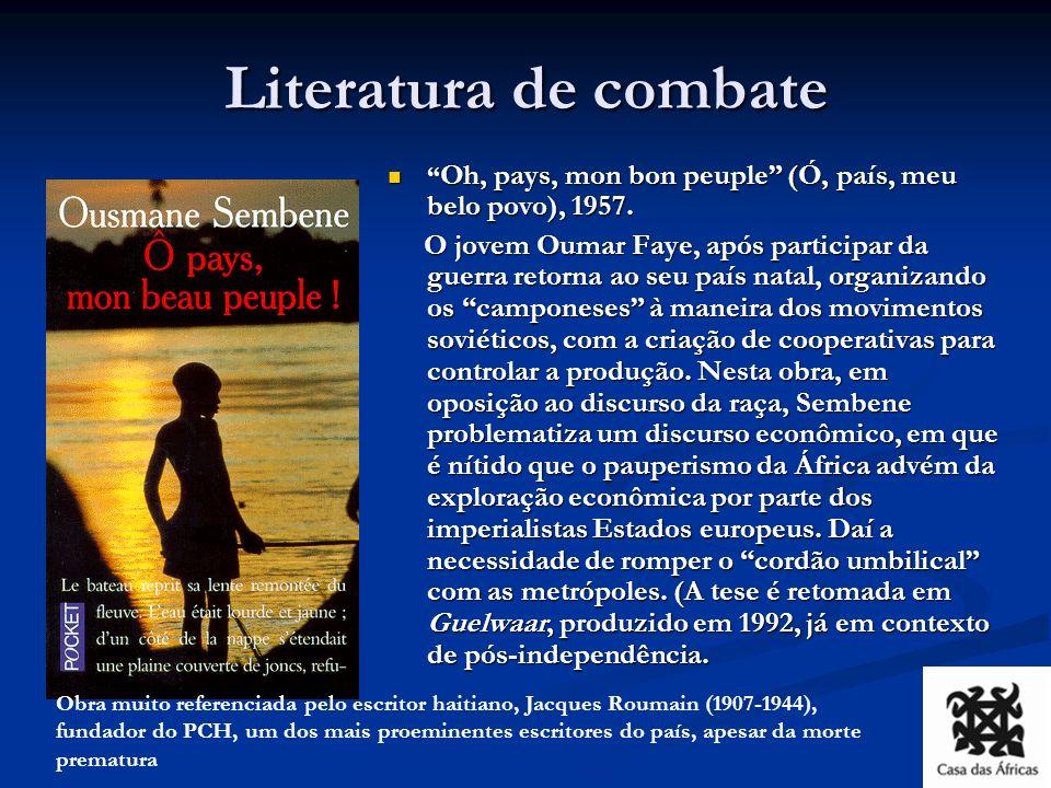 Literatura de combate Oh, pays, mon bon peuple (Ó, país, meu belo povo), 1957.