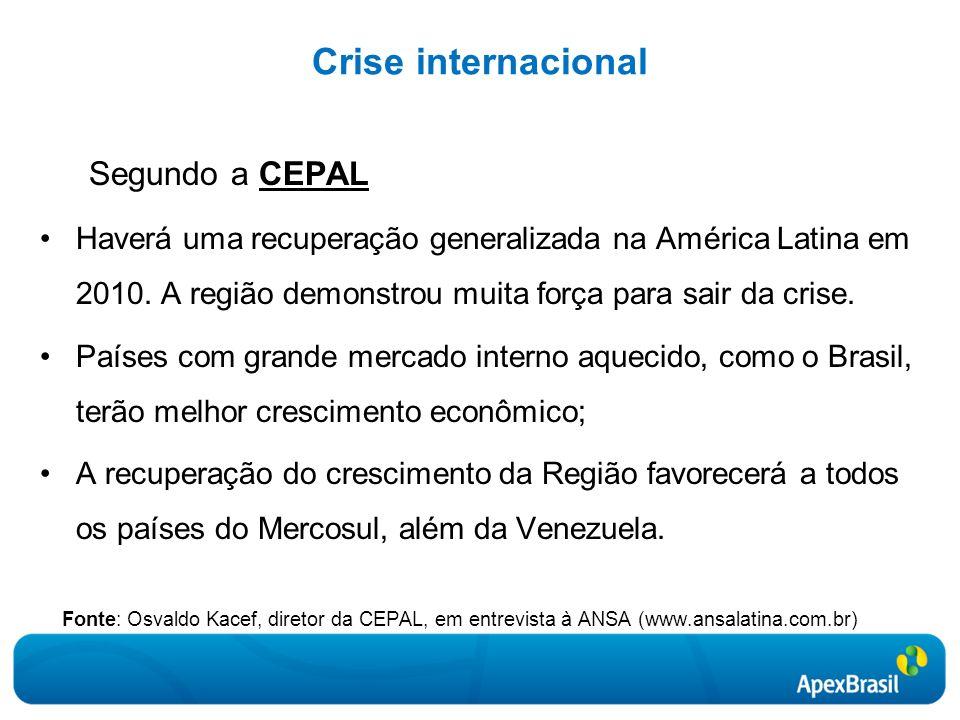Crise internacional Segundo a CEPAL.