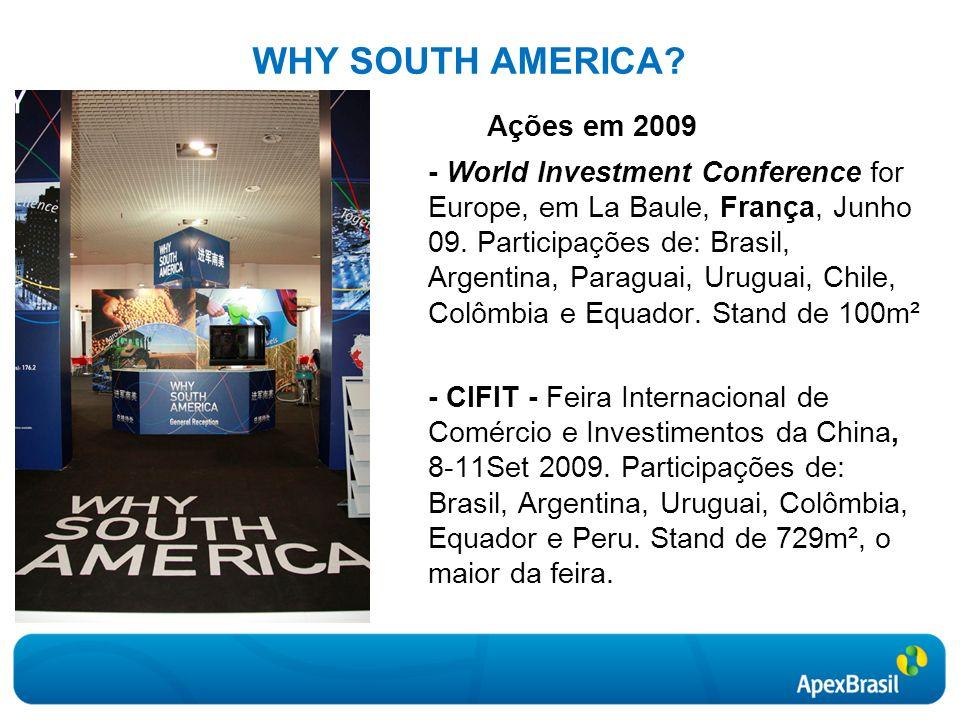 Ações em 2009 WHY SOUTH AMERICA