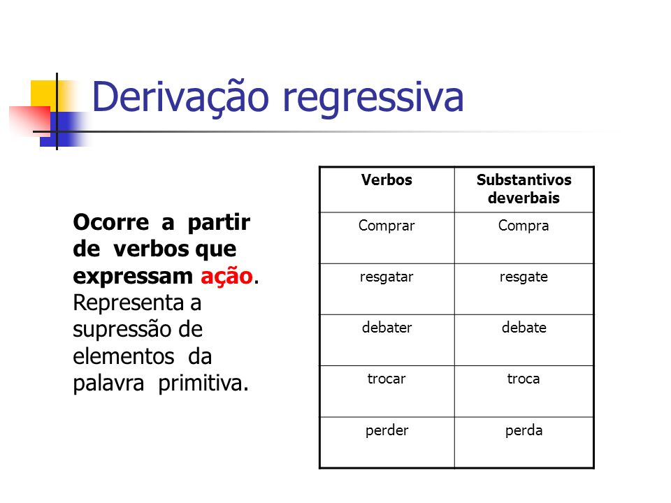 Substantivos deverbais
