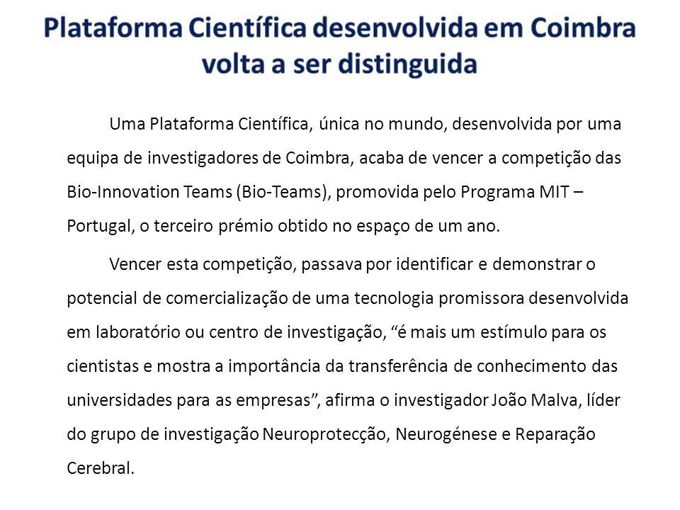 Plataforma Científica desenvolvida em Coimbra volta a ser distinguida