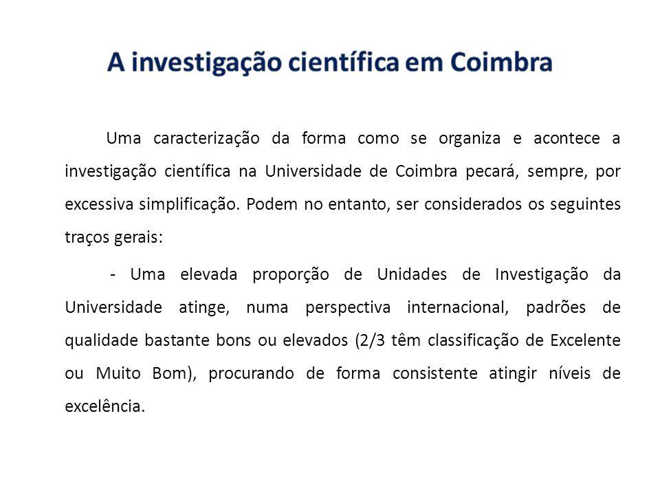A investigação científica em Coimbra