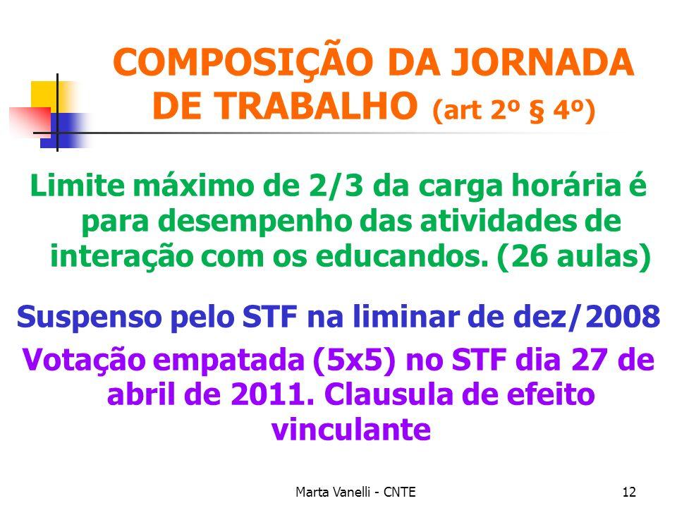 COMPOSIÇÃO DA JORNADA DE TRABALHO (art 2º § 4º)