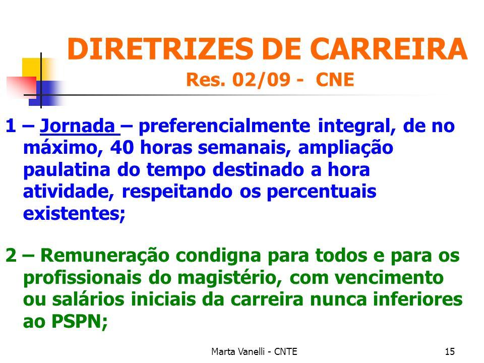 DIRETRIZES DE CARREIRA Res. 02/09 - CNE