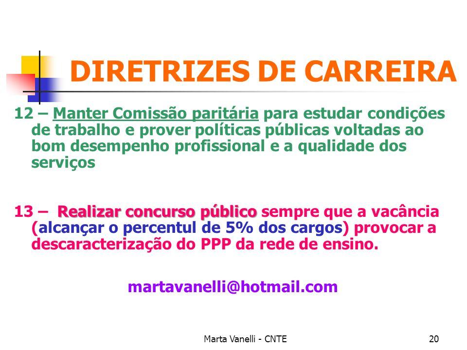 DIRETRIZES DE CARREIRA