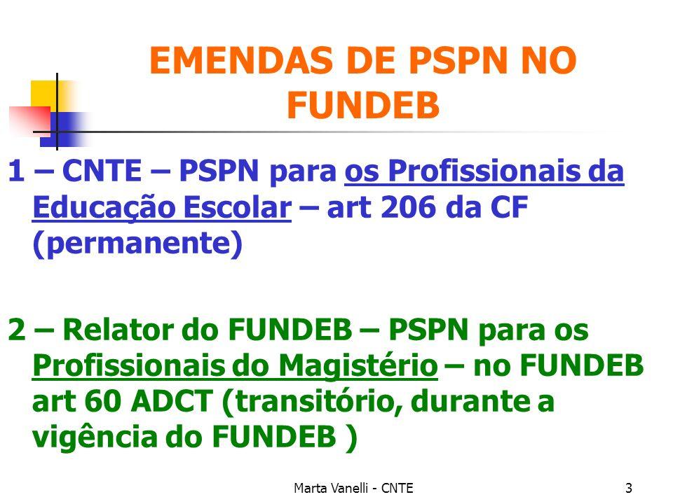 EMENDAS DE PSPN NO FUNDEB