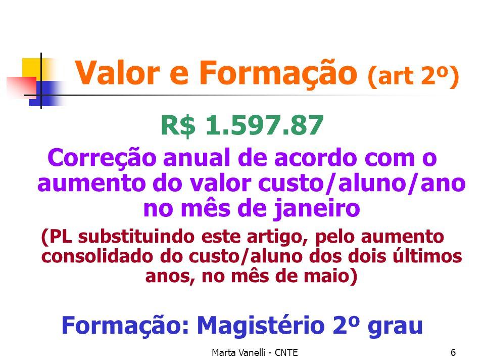 Valor e Formação (art 2º)