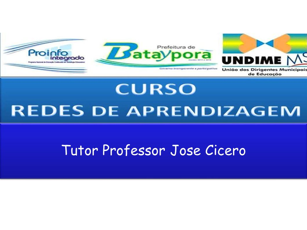 Tutor Professor Jose Cicero