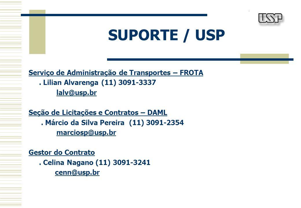 SUPORTE / ECO FROTAS Responsável pela Execução Financeira