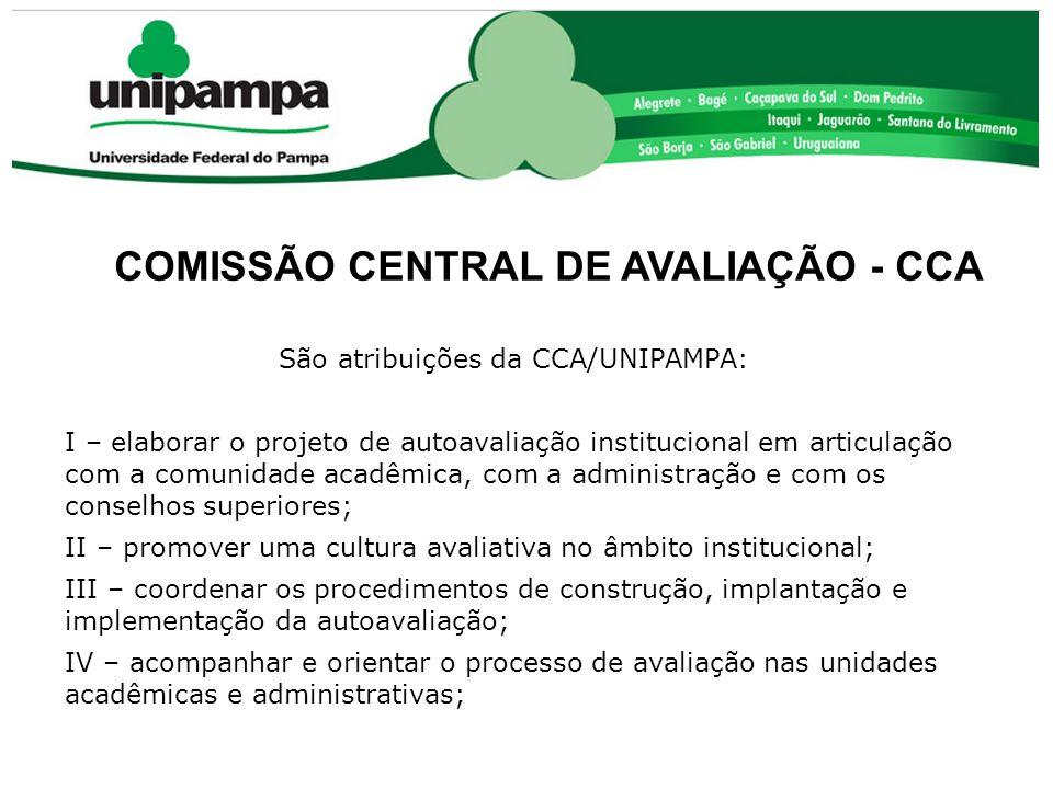 São atribuições da CCA/UNIPAMPA: