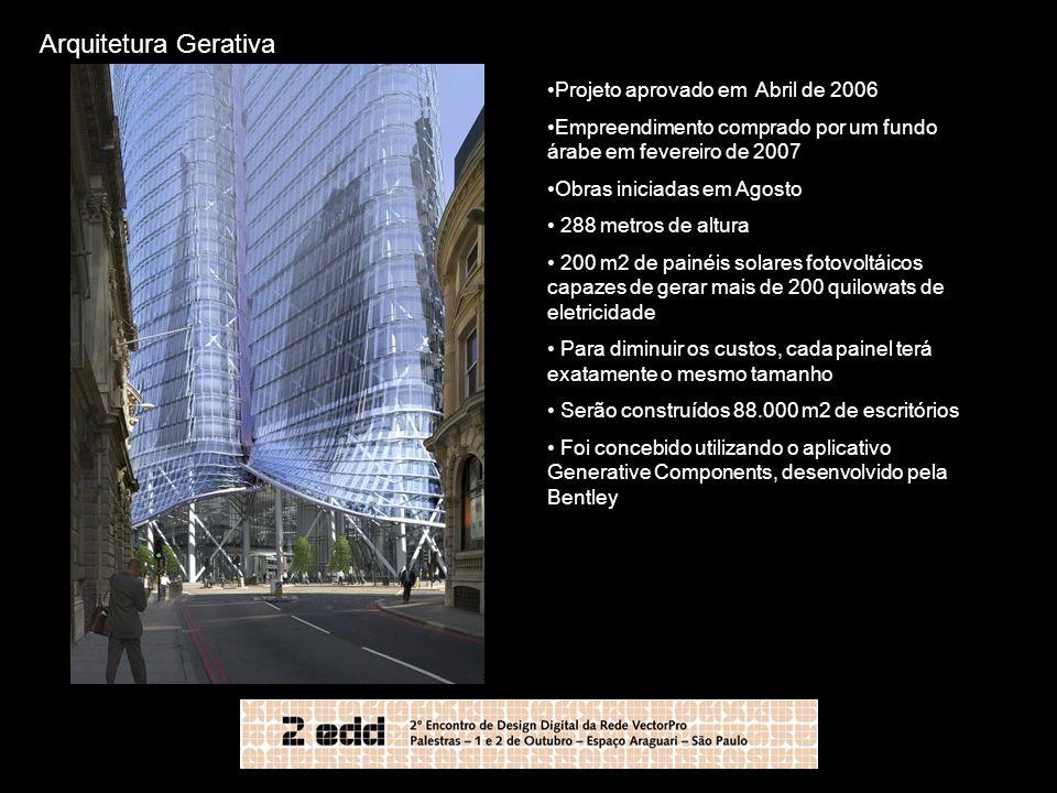 Arquitetura Gerativa Projeto aprovado em Abril de 2006