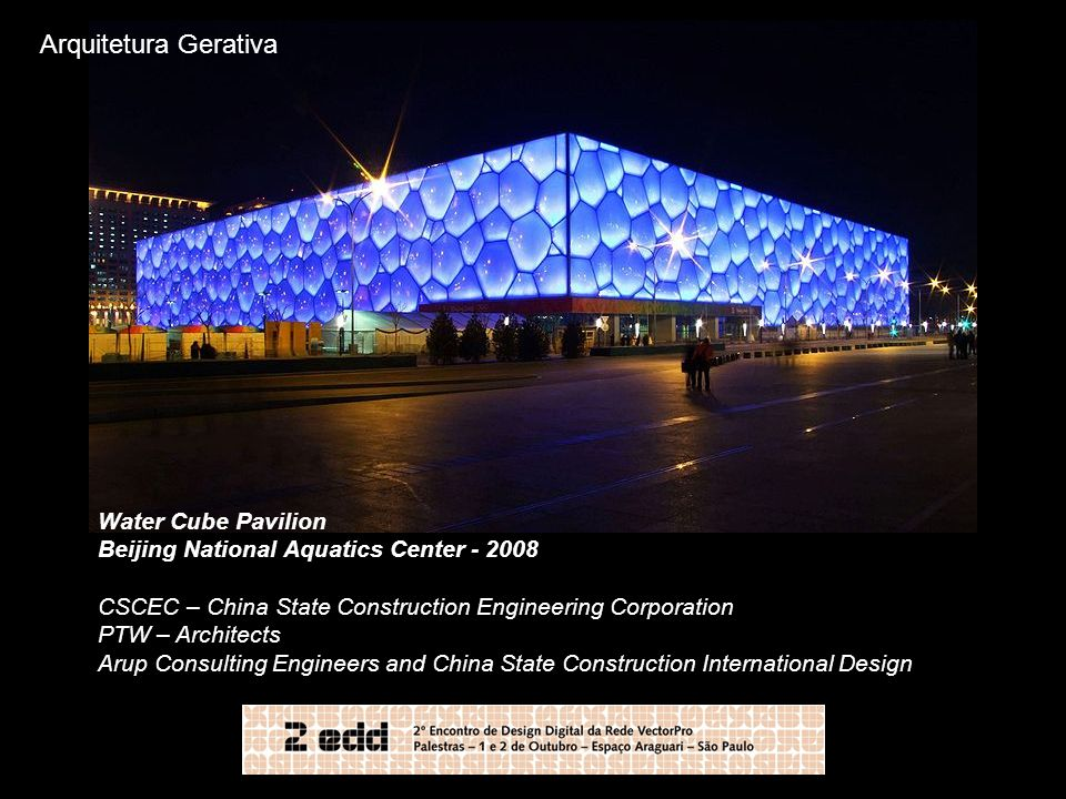 Arquitetura Gerativa Water Cube Pavilion