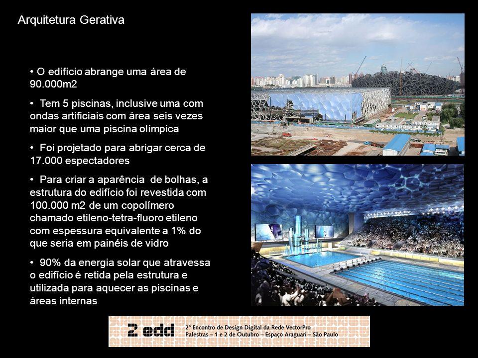 Arquitetura Gerativa O edifício abrange uma área de 90.000m2