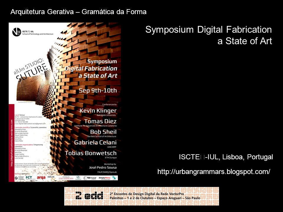 Symposium Digital Fabrication a State of Art
