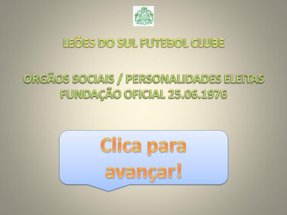 LEÕES DO SUL FUTEBOL CLUBE ORGÃOS SOCIAIS / PERSONALIDADES ELEITAS