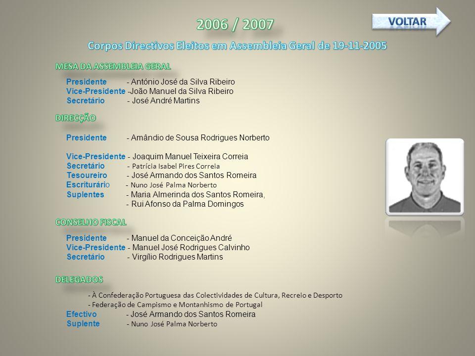 Corpos Directivos Eleitos em Assembleia Geral de 19-11-2005