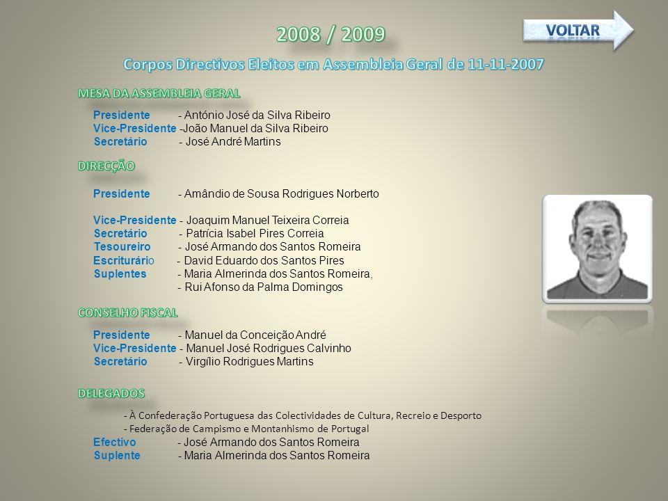 Corpos Directivos Eleitos em Assembleia Geral de 11-11-2007